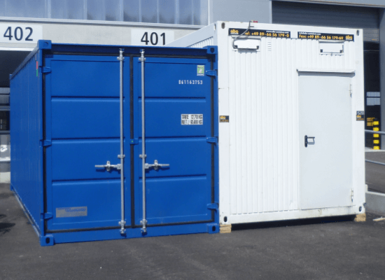 Lagecontainer, Transport-Container, Bürocontainer