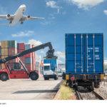 Containertransport mit Flugzeug